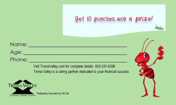 Get 10 punches, wine a prize!